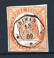 "FRANCE YVERT TELEGRAPHE 3 "" TELEGRAPH 1F ORANGE 1868 "" USED VF MUST SEE  R382"