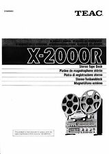 Owner's Manual /Bedienungsanleitung für Teac X-2000R