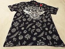 Southpole Men's L Tee Black With Silver Graphics~Authnetic Collection~MSRP=26
