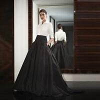 Tatteta Black Long Party Skirts Womens Ladies Prom Dress Skirt