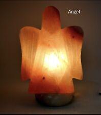Natural Ionising Himalayan Rock Crystal Salt Angel Lamp