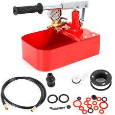7mpa 70kg Manual Hydrostatic Test Pump Mold Test Run Water Pressure Machine Red