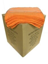 "240 Microfiber Orange 16""x16"" Cleaning Detailing Cloth Towel Auto Car Rag 300GSM"