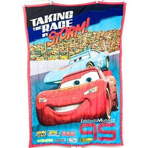 Disney Pixar Cars Comforter Toddler Taking the Race By Storm Lightning McQueen
