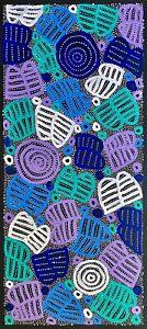 """Valorine Morgan Kngwarreye  """" Collectable Aboriginal Art"""" .Incl COA, and photos."""