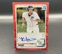 Riley Greene 1/5 Auto 2020 Bowman Chrome Red Shimmer Refractor CPA-RG RC Tigers