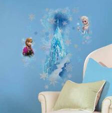 Disney FROZEN ICE PALACE wall sticker MURAL 11 decal glitter Elsa Anna snowflake