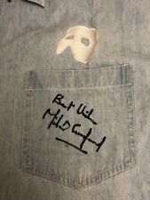 PHANTOM OF THE OPERA Denim Embroidered Shirt SIGNED by Michael Crawford