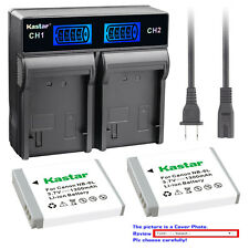 Kastar Battery LCD Rapid Charger for Canon NB-6LH CB2LY Canon PowerShot SX540 HS