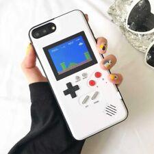 Coque rétro iPhone 6 7 8 X jeux Tetris Mario Game Boy Écran couleur protection