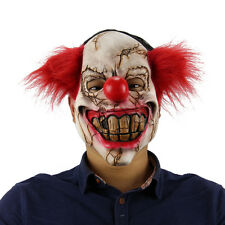 Full Face Latex Scary Clown Mask Halloween Costume Evil Creepy Adult Cosplay