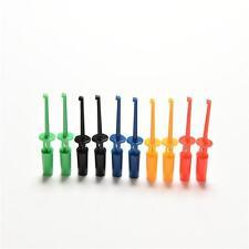 10Pcs Mini Test Hook Clip Test Probe Testing SMD Grabber 4cm 5 Colors