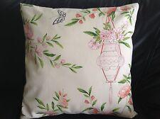 "Designer Guild ROSA Chinensis' Fabric Pillow Cushion Cover  100% cotton 18"" #4"