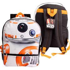 """Star Wars Force Awaken BB8 Backpack 16"""" Bag Disney Rucksack Mochila Bolsa Black"""