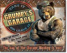 Grumpy's Garage Service Hot Rod Rat Rods Retro Muscle Car Decor Metal Tin Sign