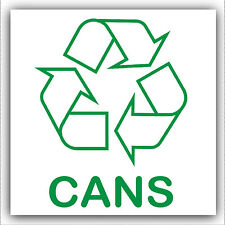 1 x Cans-Sticker-Recycle Logo Sign,Recycling,Waste,Can,Aluminium,Energy,Drinks