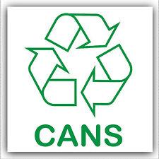 1 x lattine-Sticker-Recycle Logo Firmare, riciclaggio, rifiuti, possono, in alluminio, energia, bevande
