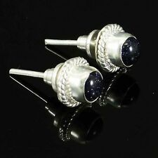Silver Plated Jewellery Goldstone Stud Earring Set Fashion Women  Formal Jewelry