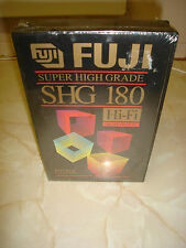 Fuji Super High Grade SHG 180 Hi-Fi Professional VHS tape cassette New Sealed