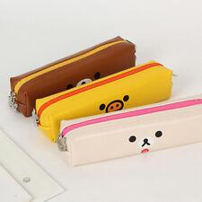 1x Cute Rilakkuma Simple&Slim Pencil Case Pen Bag School Stationery Supplies