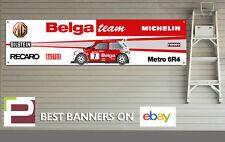 MG Metro 6R4 Rally Car Banner for Workshop, Garage, Group B, Belga, Bastos