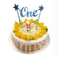 Glitter Star One 1st Happy Birthday Cake Topper Bunting Banner Decorating Part
