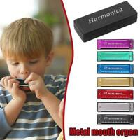 Professional 10 Hole Harmonica key C mouth metal organ For Beginners H0X9