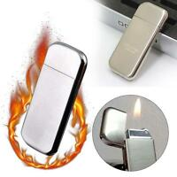 Dolphin Flint Normal Flame Butane Gas Refillable Cigar Cigarette Lighter SLV TR