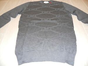 Gray Sweatshirt Versace, knitted sign GG , Size XL, cotton