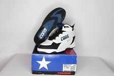 Vintage 90s New Converse Youth 3.5 Speed Pull Mid Leather Basketball Shoes White
