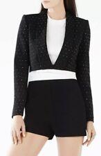 "BNWT BCBG ""Emmerson"" black stud applique cropped blazer jacket SIZE M RRP £286"