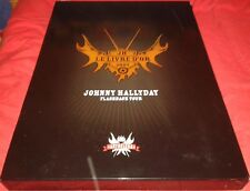 JOHNNY HALLYDAY TRES RARE COFFRET LE LIVRE D OR 2007 FLASHBACK TOUR DEDICACE?