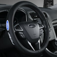 "15"" Car Steering Wheel Cover Genuine Leather For Ford"