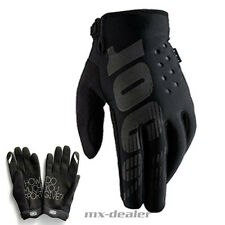 100% Prozent Brisker Neopren Winter Handschuhe MTB MX Motocross Enduro schwarz