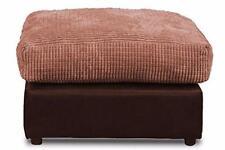 New Bajna Jumbo Cord Brown & Coffee Fabric Footstool Pouffe Ottoman Stool Soft