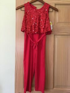 NWT Wonder Nation Red Sequin Jumpsuits Girl 6/6x,7/8,10/12