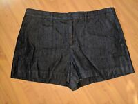 NWT Ann Taylor LOFT Womens Denim Shorts Dark Blue Stretch - Size 32 / 14