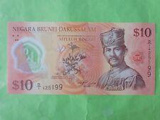 Brunei $10 Polymer 2011 (UNC) 1st Prefix D/1 425199
