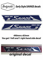 SAVAGE Boat Decals/Stickers. Older classic style