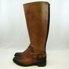 Vince Camuto Volero Womens Tall Riding Boots Brown Sz 7.5 Side Zip Stretch Back