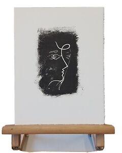 Georges BRAQUE (1882-1963) Original Lithographie Profil de femme Mourlot #25 oPP
