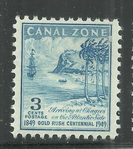 U.S. Possession Canal Zone stamp scott 142 - 3 cents issue of 1949 - mlh - xxx