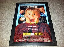 "HOME ALONE PP SIGNED & FRAMED 12""X8"" A4 PHOTO POSTER MACAULAY CULKIN JOE PESCI"