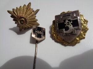3x Anstecknadel Militär - HIAG - Divisionsabzeichen - Wehrmacht