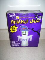 Huntington Home Halloween Lighted Ghost Boo Self-Inflatable Yard 4 Ft   2054