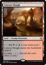 CANYON SLOUGH Amonkhet MTG  Land — Swamp Mountain Rare