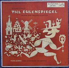 JIM FLORA art cover TILL EULENSPIEGEL Toscanini STRAUSS nm 1955