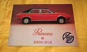 Austin Princess 2200 HLS 1976 (CH) Prospekt Brochure Catalog Depliant Prospetto