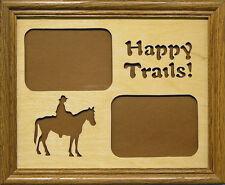 Happy Trails - Hand Cut 8x10 Photo Mat w/ Frame