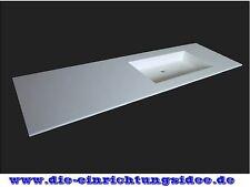 Eckiger Design Waschtisch auf Maß in Wunschgröße Corian Waschbecken Hi Macs NEU